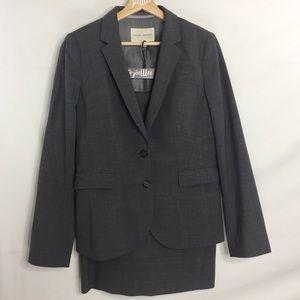 Banana Republic 2Piece Gray Blazer Suit Skirt Set